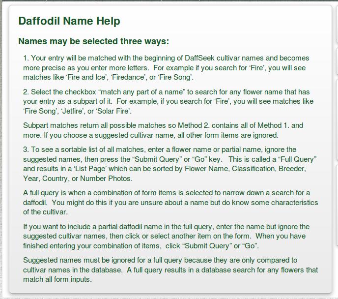 Daffodil Name help